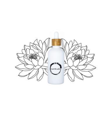 Lotusbloem etherische geurolie in glazen pipetflesje van 50ml