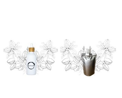Amandelolie flesje 100ml + navulverpakking 100ml