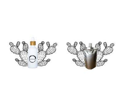 Cactusvijgolie flesje 100ml + navulverpakking 100ml