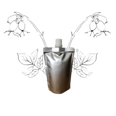 Rozenbottel olie - Navulling 200ml pouch met schenkmond