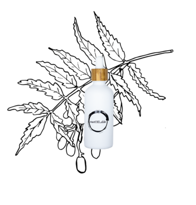 Neemolie – Glazen pipetflesje 100ml