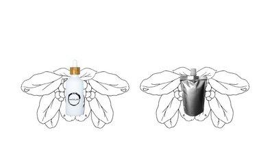 Tamanu olie flesje 100ml + navulverpakking 100ml