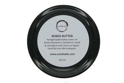 Kokos butter 125 ml in glazen pot - plasticvrij verpakt