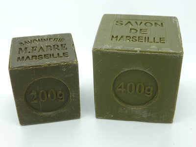 Marseillezeep (Savon de Marseille) - 200 gram en 400 gram (zonder palmolie)
