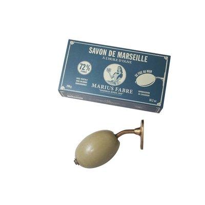 Marseillezeep (Savon de Marseille) zeepbol wandhouder 290 gram - zonder palmolie