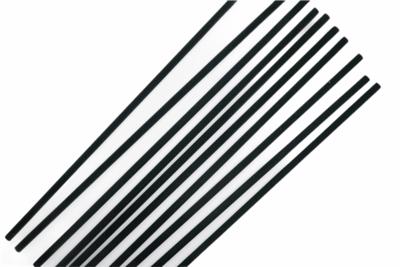 Zwarte fiber geurstokjes 20cm - setje van 10 stuks
