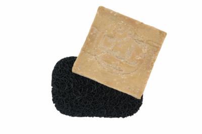 SoapLift - Zwart met mooie handgemaakte Aleppo zeep 200 gram