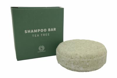 Shampoo bar tea tree – plasticvrij verpakt, palmolievrij en vegan