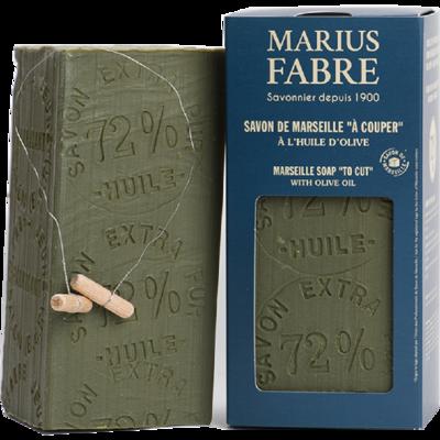 Marseillezeep (Savon de Marseille) - 1 kiloblok handbestempeld & met snijdraad (zonder palmolie)