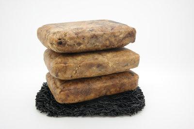 sustOILable natuurlijk pure handgemaakte harde Afrikaanse zwarte zeep 3 stuks